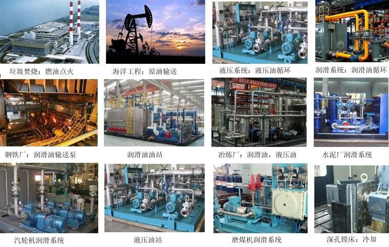 三螺桿泵適用行業