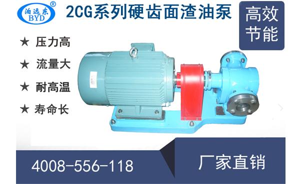 2CG渣油齿轮泵型号及参数表