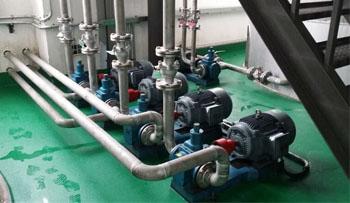 泊头远东泵业YCB圆弧齿轮泵在德联集团现场