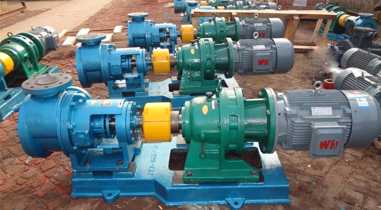 7台不锈钢高粘度树脂泵送往浙江新材料有限公司