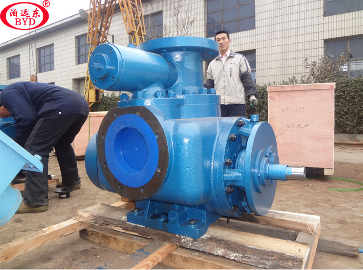 新疆某石化厂定金的2台W7T.2ZK-130M1双螺杆泵调试成功
