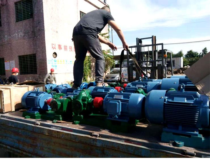 祝贺远东泵业顺利把28台船用油泵交于东莞工668船