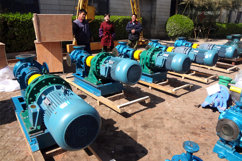 上海东方雨虹防水股份沥青泵全部顺利交货给用户使用