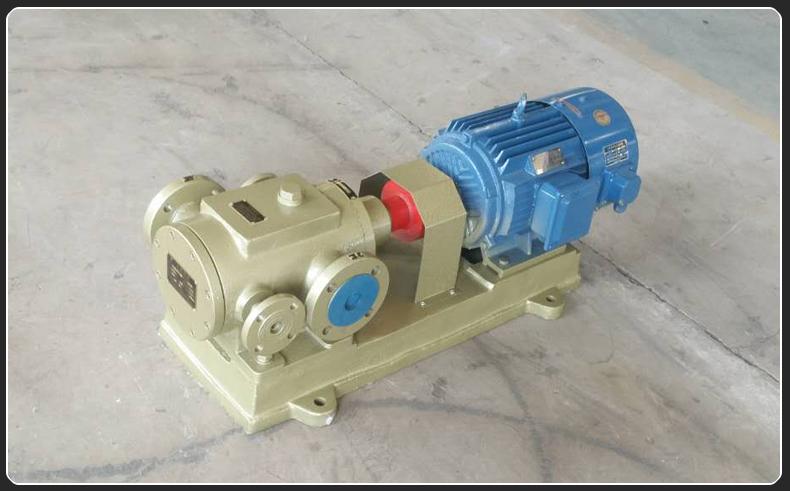 3GBW保温夹套三螺杆泵输送沥青温度达到350度
