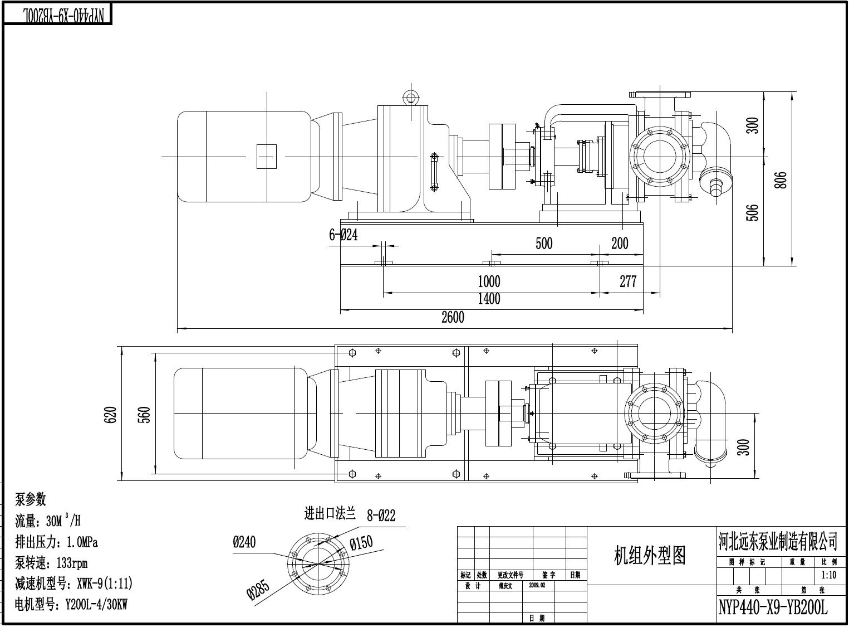 远东牌NYP440B-RU-M1-W11环氧树脂泵流量30m3/h