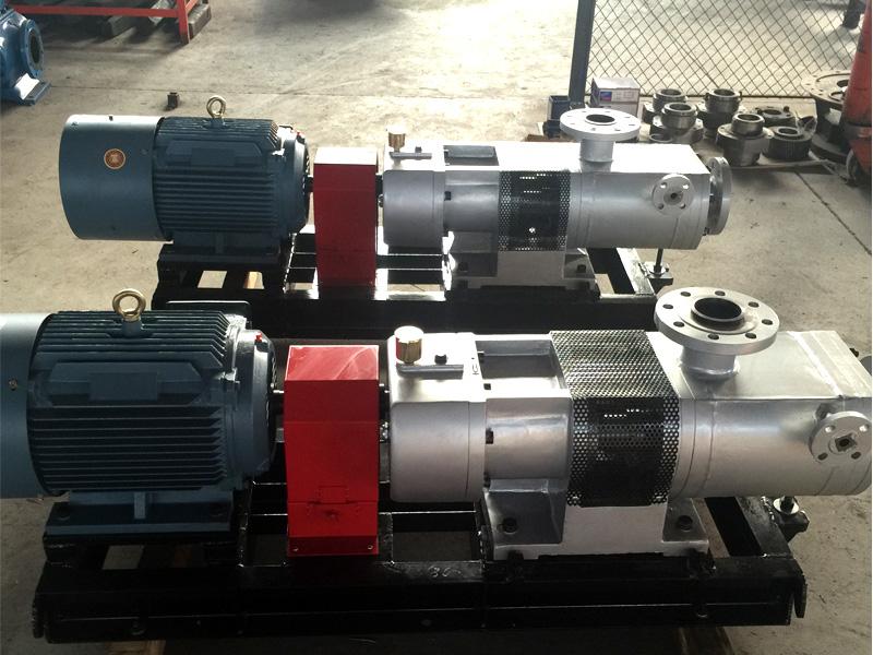 HW5kse-67M1W77不锈钢钢双螺杆泵输送树脂