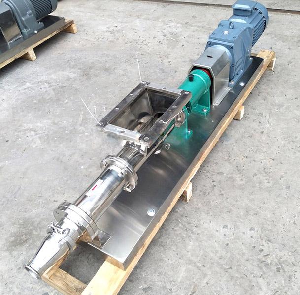远东牌流量4-5m3/h食品级不锈钢单螺杆泵