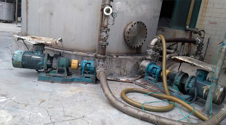 糖蜜卸料泵/糖蜜卸车泵在新希望集团饲料生产线中输送高粘度糖蜜