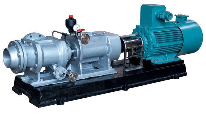 丁腈胶乳专用不锈钢双螺杆泵W7.2Kse-52M2W77G采用双端面密封