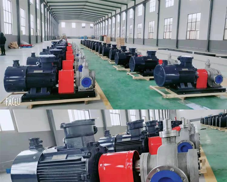远东泵业为国外用户定制的双向不锈钢齿轮泵KCB1600防爆齿轮泵50台