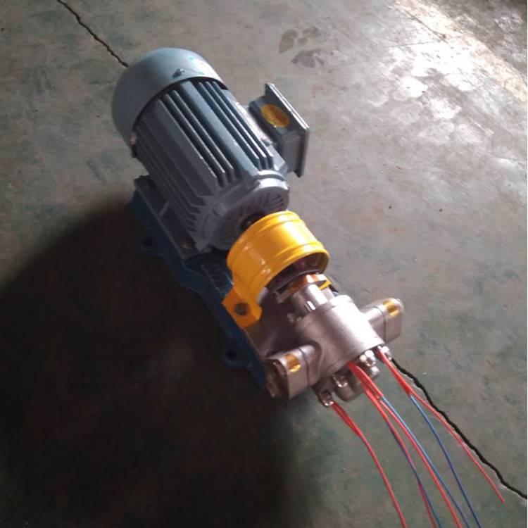 电加热保温齿轮泵KCBGT200输送蜡油沥青